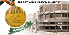 Library Wins Medal