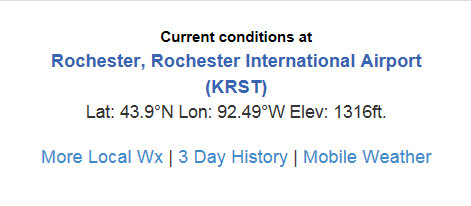 Current Weather Conditions Rochester