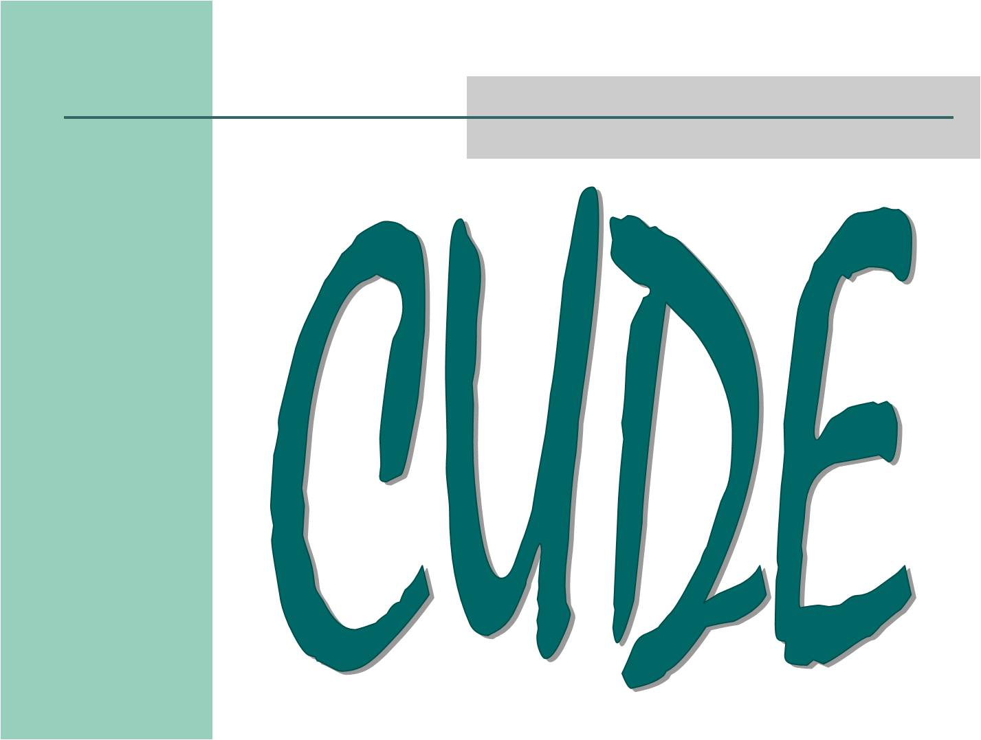 Accepting Nominations for CUDE Awards
