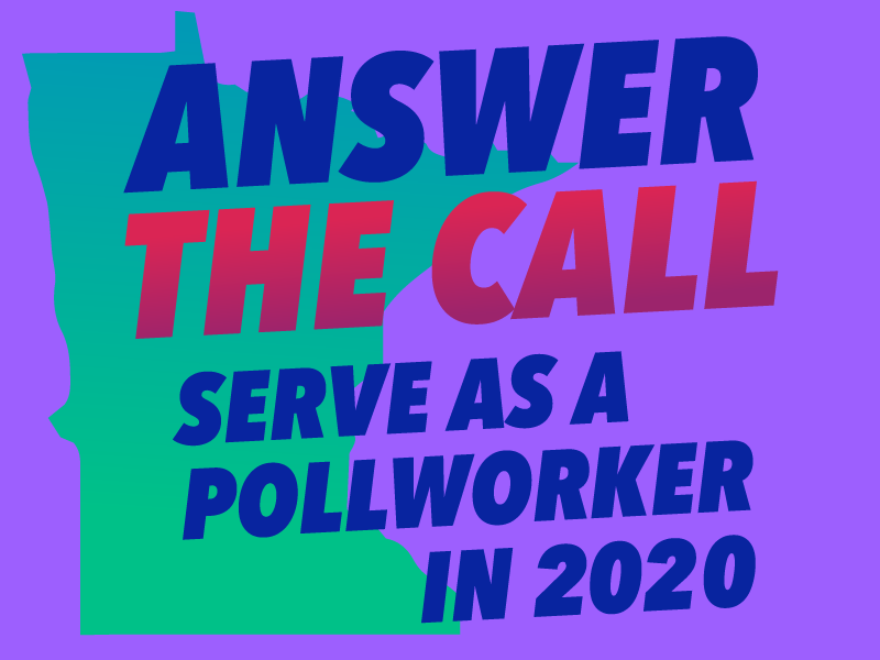 Answer the call - serve as a pollworker