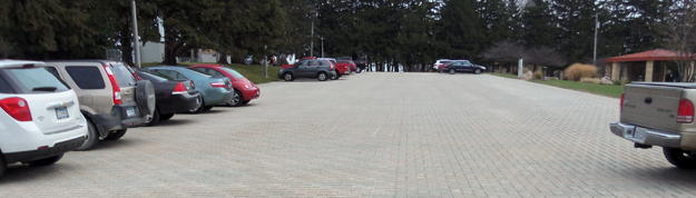 Pervious Pavers Parking Lot